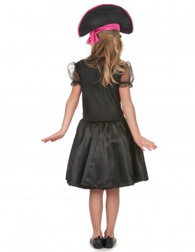 Piraten kostuum met roze kleuren voor meisjes-2
