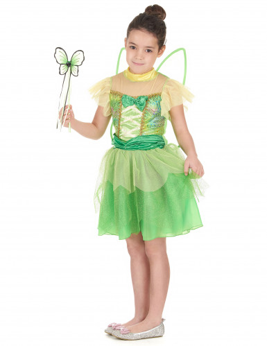 Groene feeën kostuum voor meisjes-1