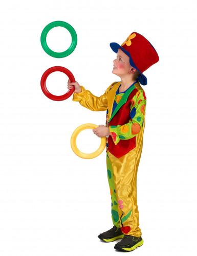 Bont clown kostuum voor jongens-1