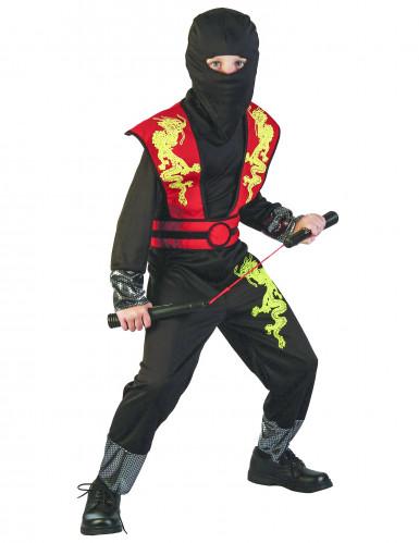 Gele en rode draak ninja outfit voor jongens