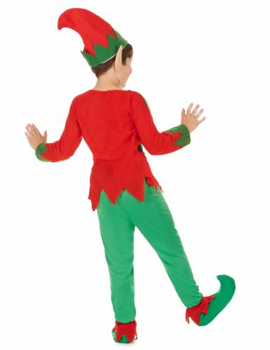 Groen en rood elfenkostuum voor kinderen -2