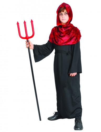 Rood en zwart duivel kostuum voor kinderen