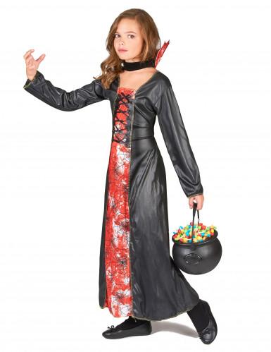 Bloody spider heksen kostuum voor meisjes-1