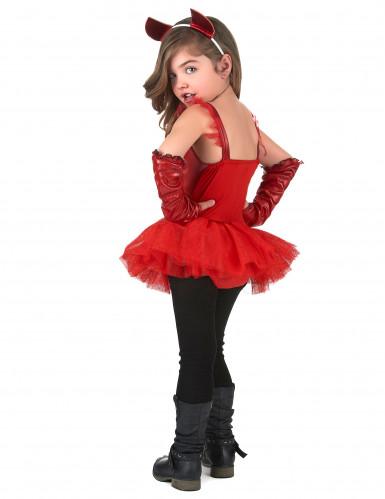 Rood duivel kostuum voor meisjes-2