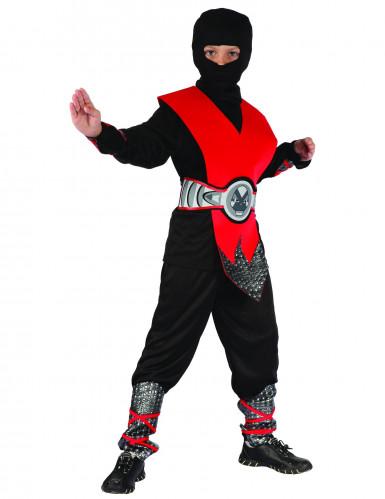 Rood ninja warrior kostuum voor jongens