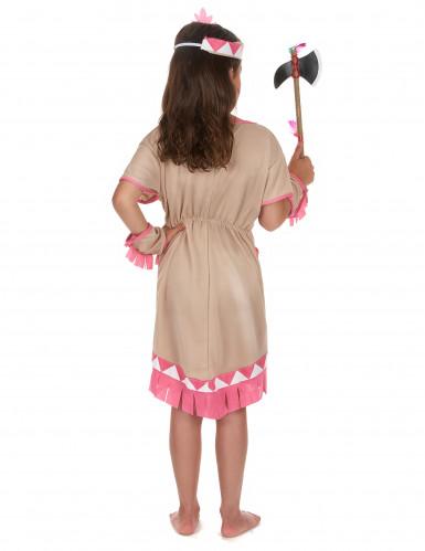 Beige en roze indianen kostuum voor meisjes-2