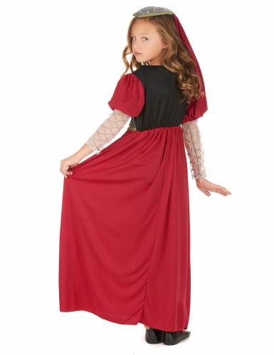 Middeleeuwse prinses kostuum voor meisjes -2