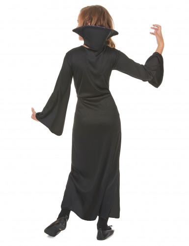 Paarse doodskoppen vampier outfit voor meisjes-2