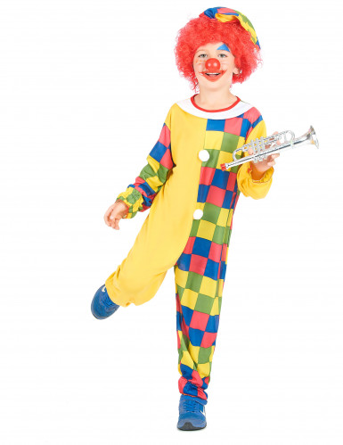 Veelkleurig clown kostuum voor kinderen