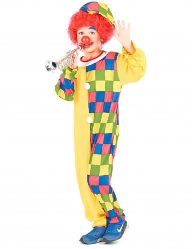Veelkleurig clown kostuum voor kinderen-1
