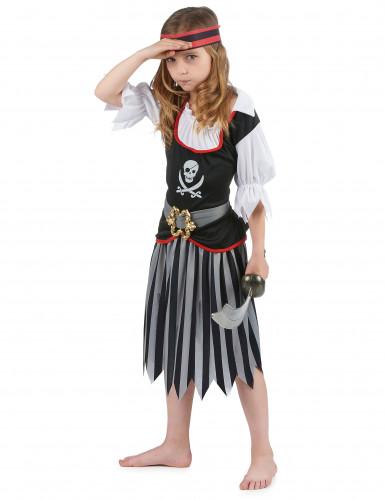Zwart en grijs gestreept piratenkostuum voor meisjes-1