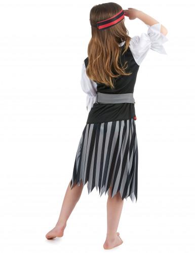 Zwart en grijs gestreept piratenkostuum voor meisjes-2
