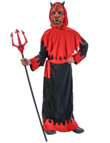 Verkleedkostuum onheilspellende duivel voor jongens Halloween pak