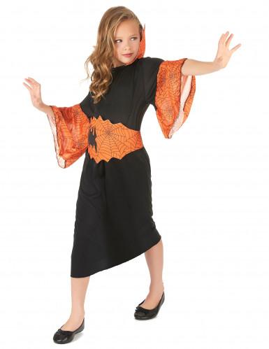Oranje spin koningin kostuum voor meisjes-1