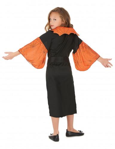 Oranje spin koningin kostuum voor meisjes-2