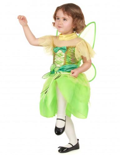 Groen fee prinses kostuum voor meisjes-1