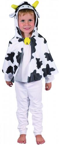 Gevlekte koe cape met capuchon voor kinderen