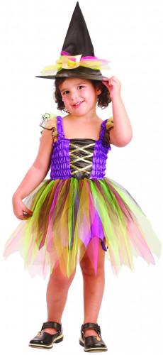 Verkleedkostuum regenboog heks voor meisjes Halloween outfit
