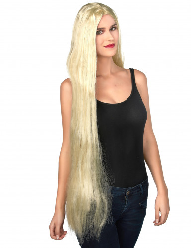 Lange blonde vrouwenpruik