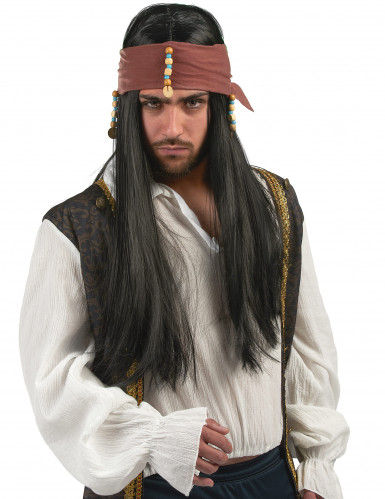 Piratenpruik voor heren