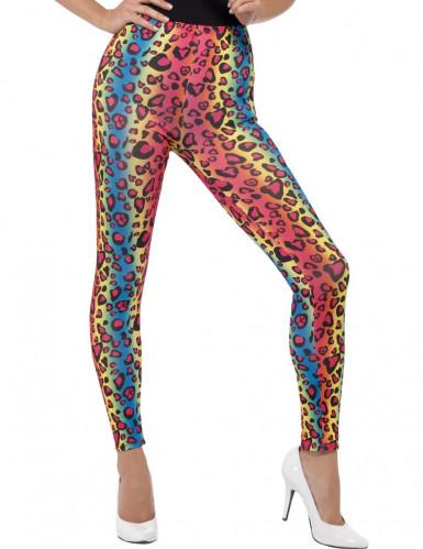 Multikleurige luipaard legging voor volwassenen