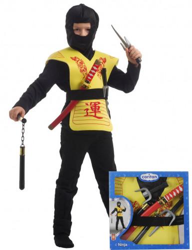 Gele ninja accessoire set
