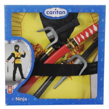 Gele ninja accessoire set-1