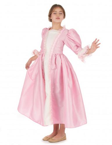 Roze markiezin pak voor meisjes-1