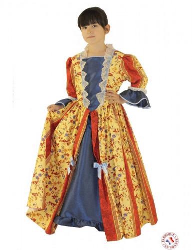 Geel markiezin outfit voor meisjes