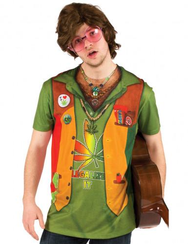 Fop-shirt Hippie volwassenen