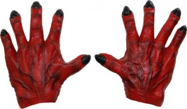 Rode monster handen voor volwassenen