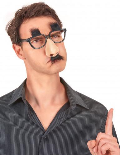 Humoristische bril neus met snor-1