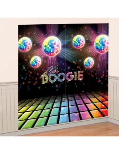 Disco muurversiering met discoballen