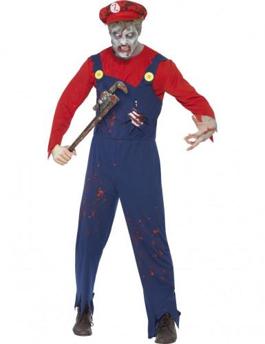 Verkleedkostuum zombie loodgieter voor heren Halloween kleding