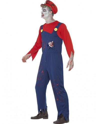 Verkleedkostuum zombie loodgieter voor heren Halloween kleding-1