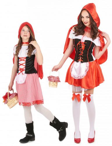 Roodkapje kostuum voor moeder en dochter