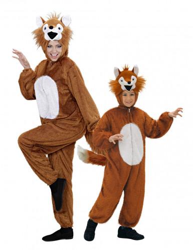 Vossen duo kostuums ouder en kind