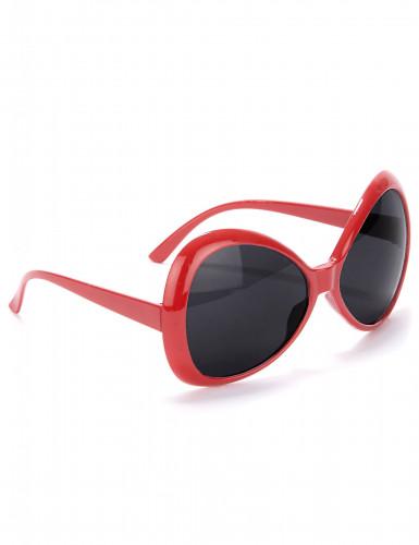 Disco bril voor volwassenen in het rood