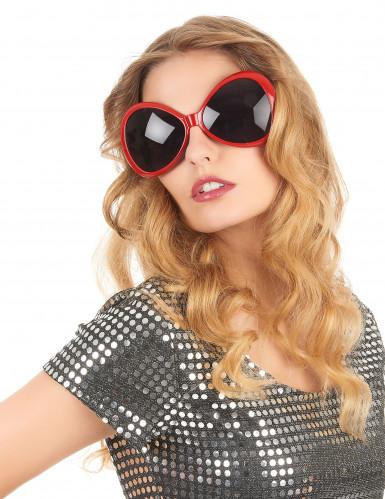 Disco bril voor volwassenen in het rood-1