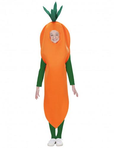 Oranje wortel pak voor kinderen