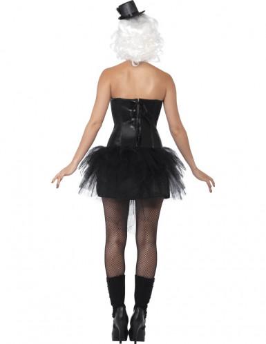 Verkleedkostuum skelet met open borst voor dames Halloween pak-2