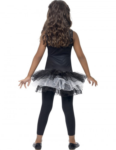 Halloween kostuum voor meisjes skelet met zwarte tutu-2
