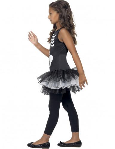 Halloween kostuum voor meisjes skelet met zwarte tutu-1