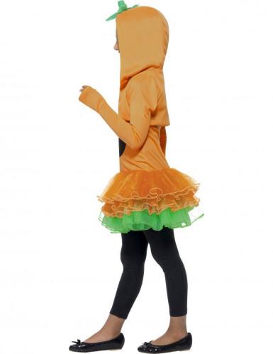 Verkleedkostuum voor meisjes pompoen met tutu Halloween kleding-1