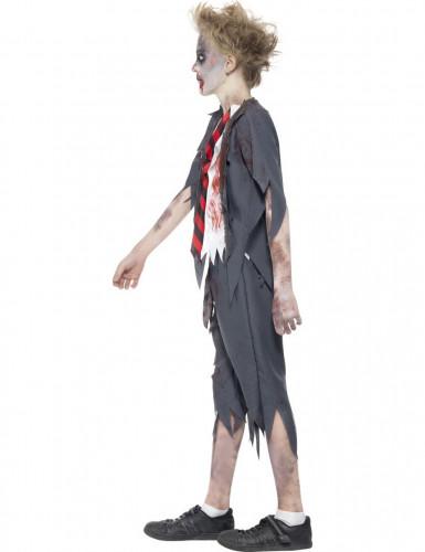 Verkleedkostuum Zombie scholier voor jongens Halloween outfit-1