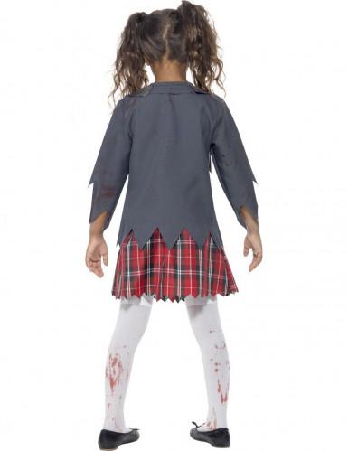 Zombie schoolmeisje Halloween kostuum voor kinderen -2
