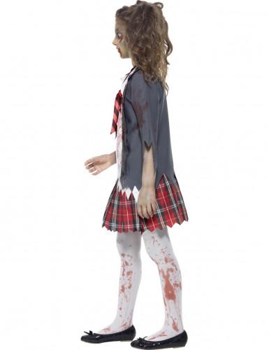 Zombie schoolmeisje Halloween kostuum voor kinderen -1