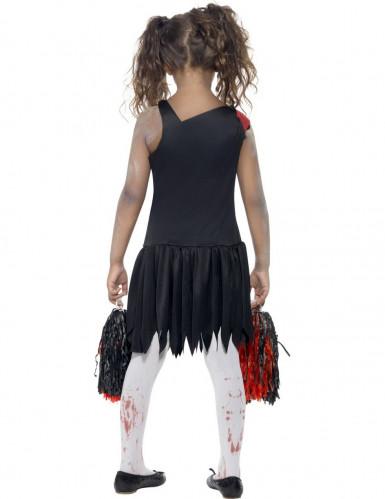 Verkleedkostuum zombie cheerleader voor meisjes Halloween pak-2