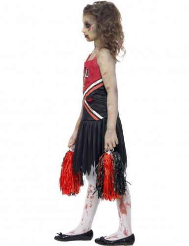 Verkleedkostuum zombie cheerleader voor meisjes Halloween pak-1