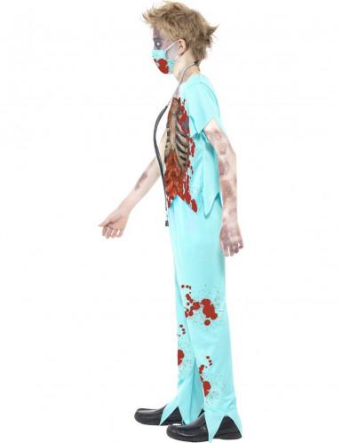 Zombie skelet dokter kostuum voor kinderen-1